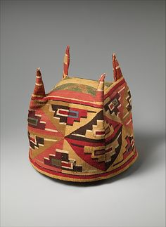 Four-Cornered Hat Four-Cornered Hat century Peru Wari Camelid hair, cotton Peruvian Textiles, Hat Patterns To Sew, Maker Culture, Cleveland Museum Of Art, Textile Fiber Art, Inca, Ceramic Artists, Ancient Art, Metropolitan Museum