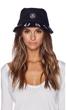 Stussy Tribe Brim Bucket Hat in Black