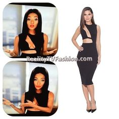 #TaraWallace's Black Cut-Out Dress #LHHNY