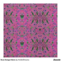 Rose Design Fabric