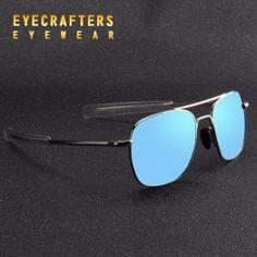 b08107dbcb2 Blue Brand Designer Polarized Sunglasses Mens Pilot Military Sunglasses  Driving Mirrored Glasses Eyewear 273