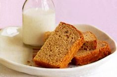 Banana bread - this recipe worked well for me with 1/3 cup brown sugar instead of their recommendation, and with a cup of walnuts,  1/2 cup oats and 2 tbsp sesame seeds added.