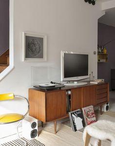 Brooklyn carriage house renovation by Jen Turner, Rega Planar turn table, Remodelista
