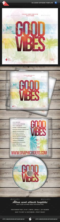 Summer Of Love - CD Cover Artwork Template Cd cover, Template - cover template