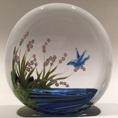 """Early Yaffa Todd """"Memories Series"""" Art Glass Lampworked Paperweight C. 1991"""