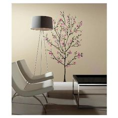RoomMates Pink Blossom Tree Peel and Stick Giant Wall Decals