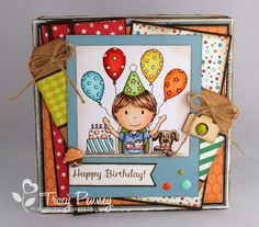 The Paper Nest: Birthday Gift Box DT Tracy Penney