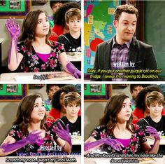 If you put another purple cat on our fridge, I swear I'm moving to Brooklyn. Boy Meets World Quotes, Girl Meets World, Disney Au, Disney Love, Funny Disney Memes, Disney Quotes, Riley And Farkle, Cory And Topanga, Disney Theory