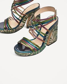Image 4 of MULTICOLORED PLATFORM SANDALS from Zara