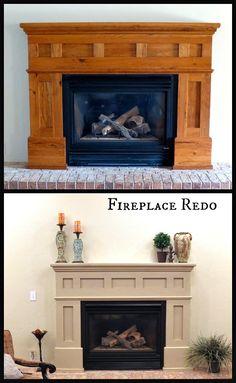 DIY Refinished Fireplace