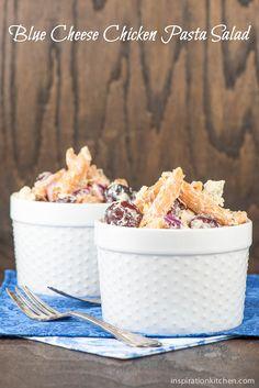 Blue Cheese Chicken Pasta Salad | Inspiration Kitchen