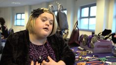The young entrepreneur with Down's Syndrome who runs her own fashion business.