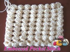 Meladoras Creation  |  Crochet Embossed Pocket Stitch – Free Crochet Pattern - Meladoras Creation