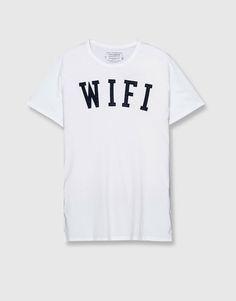 Pull&Bear - man - clothing - t-shirts - short-sleeve printed t-shirt - white - 09244538-I2016