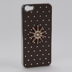 Flower Spur #Rhinestone #iphone 5/5s #Cover available at www.shopforbags.com $7.50