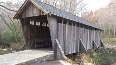 The Pisgah Covered Bridge.  One of only two remaining antique covered bridges in North Carolina. #PisgahCoveredBridge