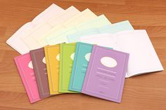 Inspired by sweet and scrumptious French macarons, these notebooks are colored inside and out. These compact notebooks are great for work or study.