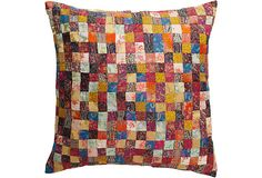 Silk Brocade Patchwork Pillow