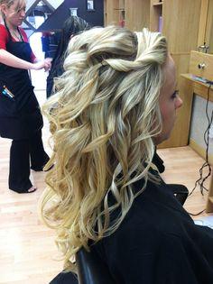 Bridal hair- half up half down