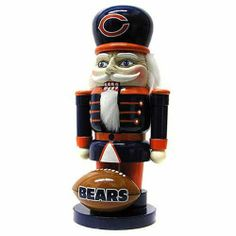 "NFL Chicago Bears Elite 7"" Nutcracker by Topperscot. $17.99. Large, Sturdy Wooden Nutcracker in Traditional Design. Bright Team Color Outfit and Logos. Officially Licensed Product for Decoration Only. Fluffy Decorative Hair and Moving Mouth Piece. With Topperscot's Elite Nutcracker, you will get into the holiday spirit while supporting your favorite team! Our decorative 7"" Nutcracker is made of sturdy painted wood and makes a perfect addition to any collection. The traditi..."