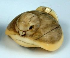 Whale Tooth Netsuke (love me some birds!)