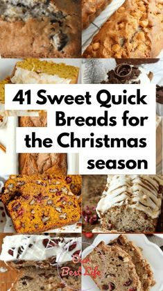 41 Sweet Quick Breads for the Christmas season Baked Goods For Christmas Gifts, Christmas Bread, Christmas Breakfast, Christmas Baking, Christmas Candy, Quick Bread Recipes, Cooking Recipes, Drink Recipes, Yummy Recipes