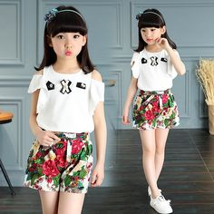 Cheap children girls clothing, Buy Quality girls clothing directly from  China costume set Suppliers: Children's Girl's Clothing Girl Sfashion  Casual Summer ...