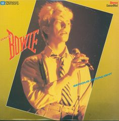 """David Bowie """"Serious Moonlight"""" Pioneer Artists Music Laserdisc 