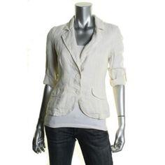 JUICY-COUTURE-NEW-Ivory-Linen-Adjustable-Sleeves-Crop-Blazer-4-BHFO
