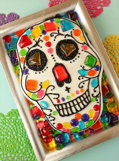 Skull Cake for Dia de los Muertos - SugarHero This is my ultimate goal in my baking life.