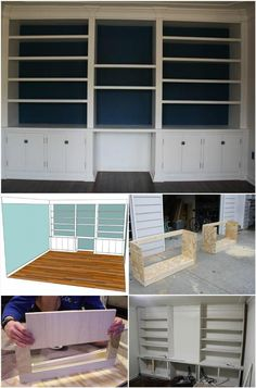 fetching sheetrock entertainment center. 50 DIY Shelves  Build Your own Crafts Drywall Entertainment Center Before and After Picture Photo Home