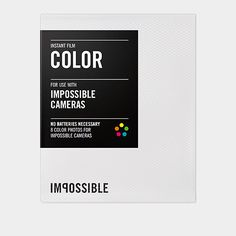 Print your photos instantly, just like the old school polaroids! Impossible Instant Lab | MoMAstore.org