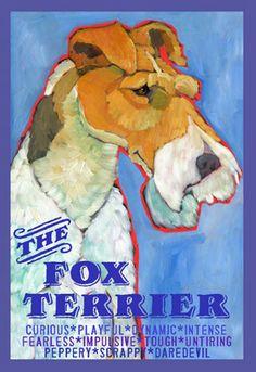 Wire Fox Terrier print