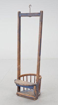 Child's swing chair, 1700-1800.