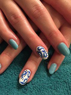 Nails by Mindy  816-914-8986 Liberty, MO Paisley  #gel #shellac #nails