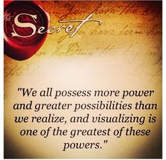 Visualizing is one of the greatest powers we have!