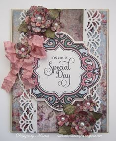card designed by Marisa Job using JustRite Papercraft Enjoy The Day Vintage Labels Four and Vintage Labels Four dies