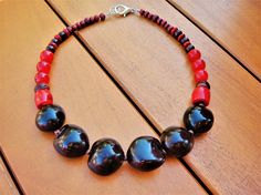 Ethnic Seed Stone Necklace Natural Coral Necklace Kukui