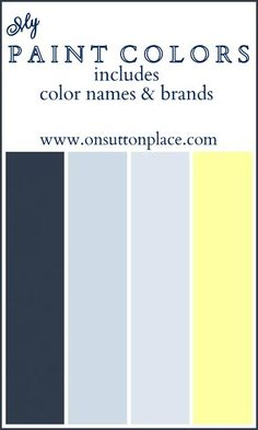 Color names, sources and pictures of the paint colors used in my house.