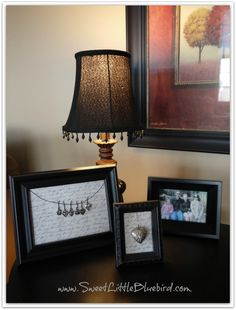 Cute way to decorate frames.