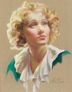 """Mila Baine, """"Marlene Dietrich"""", pastel on board."""
