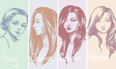 The Selection Series: Girls by CharlyHantschel.deviantart.com on @DeviantArt