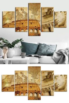 Style: Modern  Subject: Landscape  Material: Canvas  Type: Canvas Printing  Shape: Irregular  #artwork #artprints #canvasprints #homedecor #decor #home Landscape Materials, Canvas Prints, Art Prints, Wall Decor, Wall Art, Rome Italy, Framed Artwork, Printing, Shape
