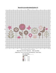 fleurs cross-stitch - free