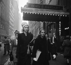 Two young women on the way to the theater, New York City, 1946. Photo by Stanley Kubrick
