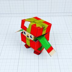 Christmas box elf paper toy will be up for download again soon x -#Christmas #Xmas #diy #craft #papercraft #papertoys #illustration #drawing #designertoy #arttoys #graphicdesign #paperengineering #Sheffield #FUT