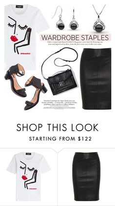 """""""Wardrobe Staple: White T-Shirt"""" by pearlparadise ❤ liked on Polyvore featuring Dsquared2 and Joseph"""