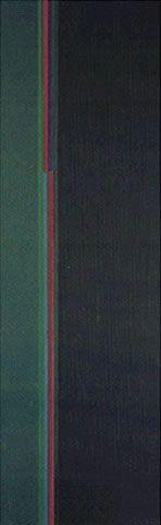 Composição Verde 1960 | Lothar Charoux acrílica sobre tela, a.a. 100.00 x 36.00 cm