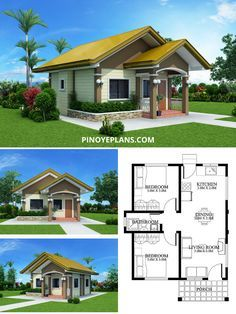 Small Cottage House Plans, Small Modern House Plans, Modern Small House Design, Beautiful House Plans, Beautiful Small Houses, Small House Floor Plans, Simple House Design, Small House Layout, House Layout Plans