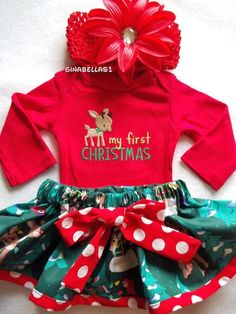 Newborn Christmas Outfit - Christmas Outfit For Baby Boy Or Girl ...